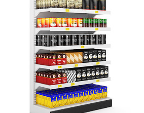 3D vray-material Supermarket Shelf