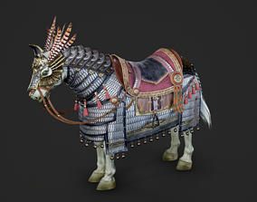 The warhorse of ancient Chinese armed cavalry 3D model 3