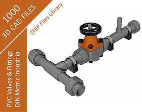 PVC METRIC - VALVES AND FITTINGS INDUSTRIAL - 3D