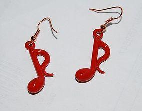 3D print model Castable Note-Earrings