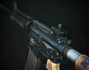 M4A1 Mobile or PC F2P Ready Low Poly 3D asset