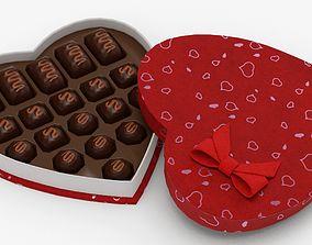 Valentines Candy Box 3D asset