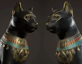 Egyptian Cat Statue 3D asset