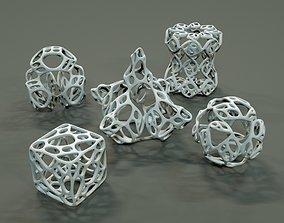 3D print model Organic Geometric Figures