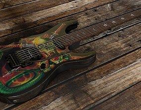 George Lynch Snake Skull Guitar 3D