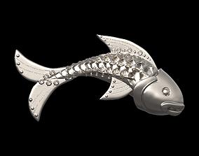 Fish pendant 3D print model cnc