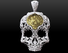 3D printable model Skull ornamental pendant jewelry