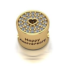 3D print model happy heart charm ball