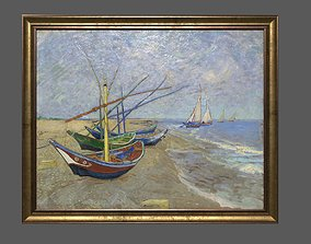 3D asset Bronze Frame with Stretcher and Van Gogh Oil