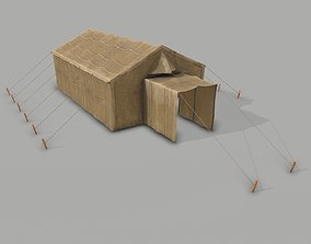 3D model Military Tent PBR - B