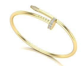 Nail bracelet 3D print model fashion