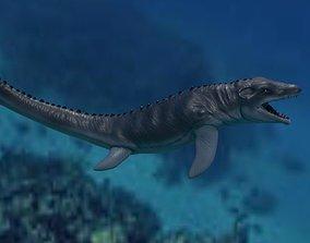 Mosasaurio 3D asset game-ready