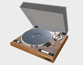 3D model low-poly Vintage Record Player