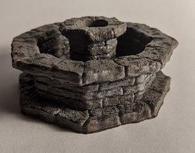 3D print model Stone Water Fountain Miniature