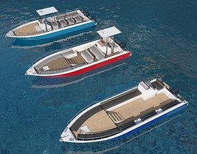 Motorboats asset pack 3D model