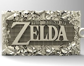 3D printable model Zelda relief keychain version available