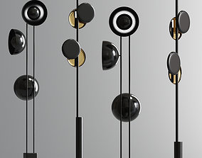 Modern Typography Cilon Floor Lamp Collection 3D