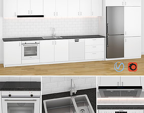 Modern Kitchen 1 3D model