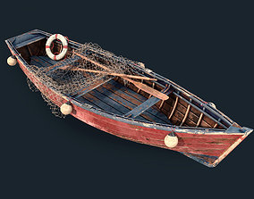 Old fishing boat 3D