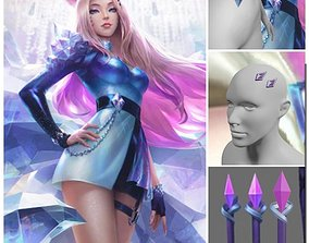 3D print model KDA ALL OUT SERAPHINE Ahri jewelry 1