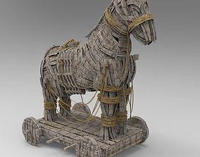 3D Trojan Horse High res Model
