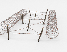 3D Barb Wire Obstacle battlefield