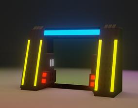 3D print model Sci fi Door