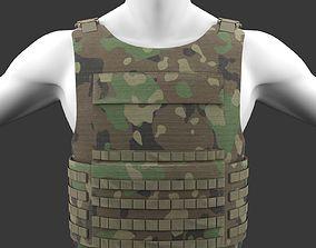 Military Woodland Tactical Vest 3D asset