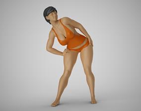 Woman Bending to Look 3D printable model