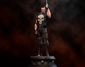 Fanart THE PUNISHER - Statue 3D print model