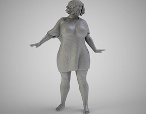 3D printable model Fluffy Woman