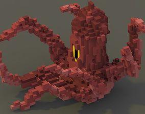 3D asset Sea Monster Voxel Model