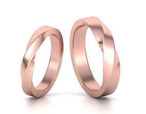 Mobius rings 3mm and 4mm width 3dmodels