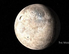 animated moon 3d model