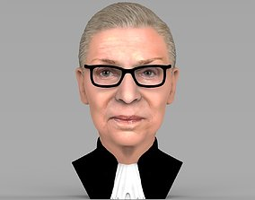 Ruth Bader Ginsburg bust ready for full color 3D printing