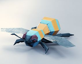 Abstract LowPoly PBR Bee 3D model