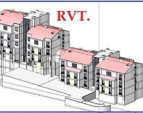 Twin House Apartment Design Revit 3D