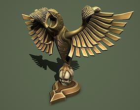 3D asset Statue Eagle