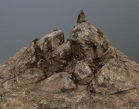 3D model game-ready rocks stone