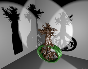 3D print model tree sculpture