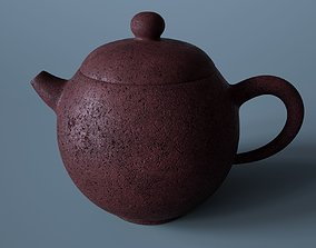 3D model Old Chinese clay teapot