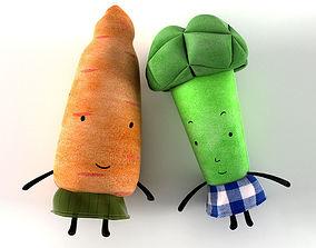 3D model Ikea Carrot and Broccoli