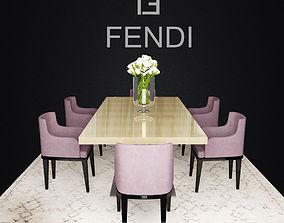 3D Fendi Casa Dining