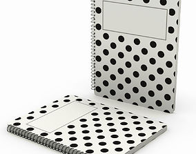 3D Dotted spiral notebook - closed