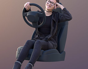 3D model Laura 10567 - Driving Casual Girl