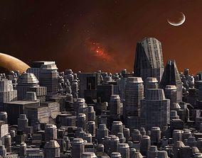 3D Space City 01