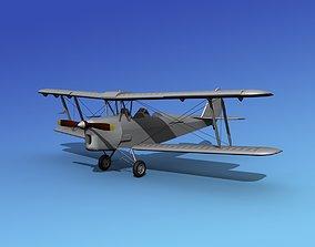 Dehavilland DH82 Tiger Moth Bare Metal 3D model