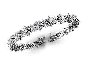 Diamond Bracelet 7-Inch 3D printable model