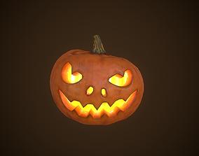 Pumpkin Halloween 3D model game-ready