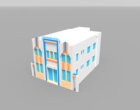 3D asset Voxel Miami Hotel 12